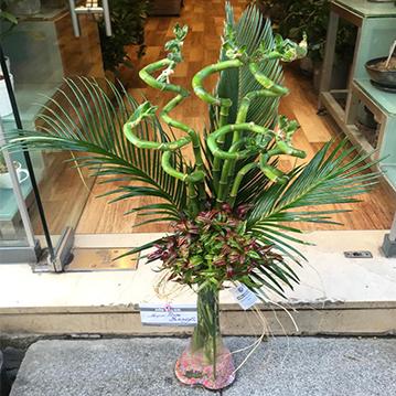 Cam Vazoda 7 Adet Bambu