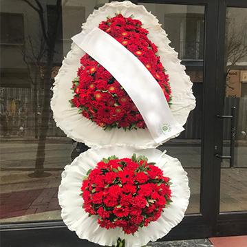 Göbekli Kırmızı Karanfil-Gerbera Sepeti
