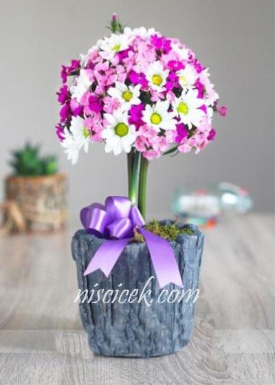 Seramikte Mevsim Çiçekleri - Ürün Kodu:475