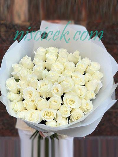 35 Beyaz Gül Buketi - Ürün Kodu:835